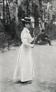 Hélène Pévost championne de France de tennis en 1900