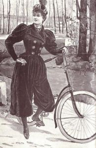 Tenue de cycliste féminine