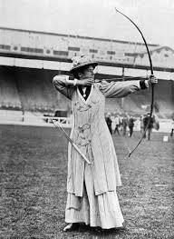 Tir à l'arc féminin 1900